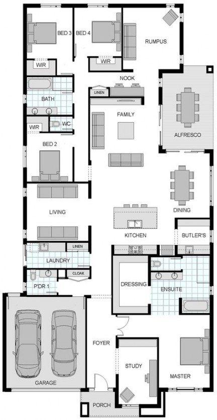 28 Ideas Breakfast Nook Plans Open Floor For 2019 House Plans Australia 4 Bedroom House Plans House Floor Plans