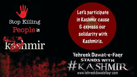 Kashmir issue should be resolved with the consent of Kashmiri people.  Tehreek Dawat-e-Faqr strongly supports the Kashmiris.   #StandForKashmirOnFri #KashmirBleeds #Kashmir #Pakistan #KashmirProtests #PakistanStandsWithKashmir #KashmirAtDecisionPoint #StandWithKashmir #IndianOccupiedKashmir #KashmirWantsFreedom #KashmirUnderThreat #KashmirIssue #KashmirHour #sultanbahoo #sultanulashiqeen #tdf #faqr #sufism #spirituality #mystic