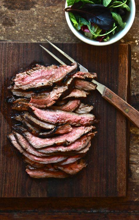 hawaiian marinated flank steak   The Clever Carrot