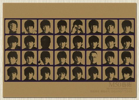 The Beatles Retro poster Kraft nr.5
