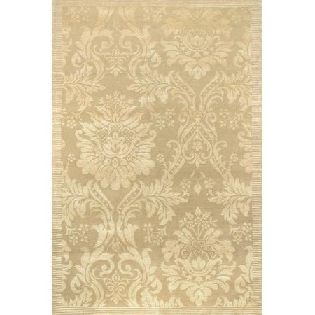 Couristan Impressions Antique Damask Gold Ivory Area Rug