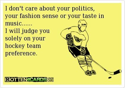 I will make snide comments about politics, fashion sense and taste in