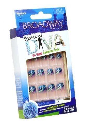 Broadway Nails Fashion Diva Go Glam Celebrity Style Medium Length