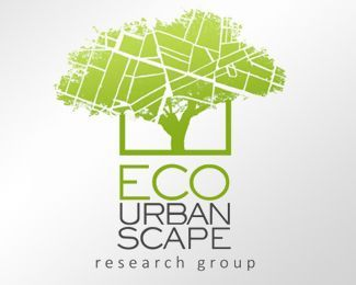 Eco Urban Research Group Logo Design Grafik Design Logos Baum Logos