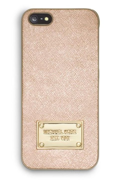 Women s MICHAEL Michael Kors Metallic Saffiano iPhone 5   5s Case ... abdea45f6
