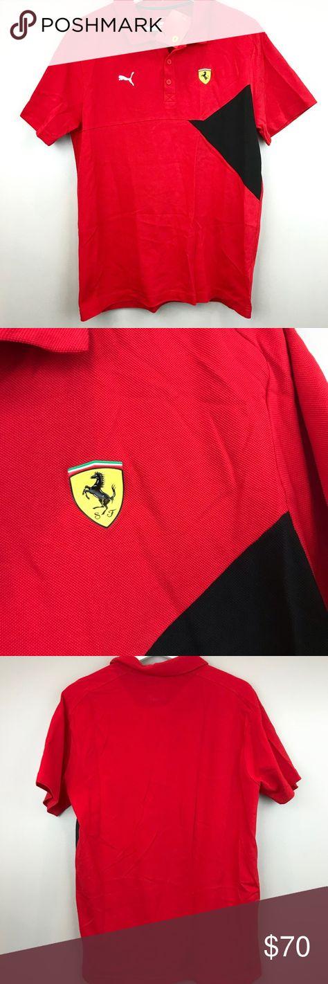 af1d8d120bf24d Ferrari Puma NEW men red polo shirt SF black M Puma Ferrari men red polo  shirt size medium 576708 Rosso Corsa SF Scuderia Ferrari with yellow shield  on ...