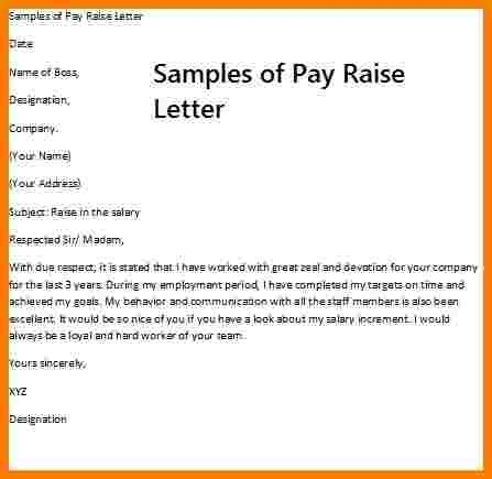 8 Sle Letter Of Salary Increase Sales Slip Template Salary