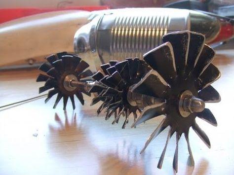 Tin Can Turbo Fan Turbine Wheel Work In Progress Jet Turbine Jet Engine Turbine Engine