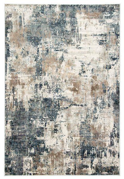Ramsgate Abstract Beige Blue Area Rug Rugs In Living Room