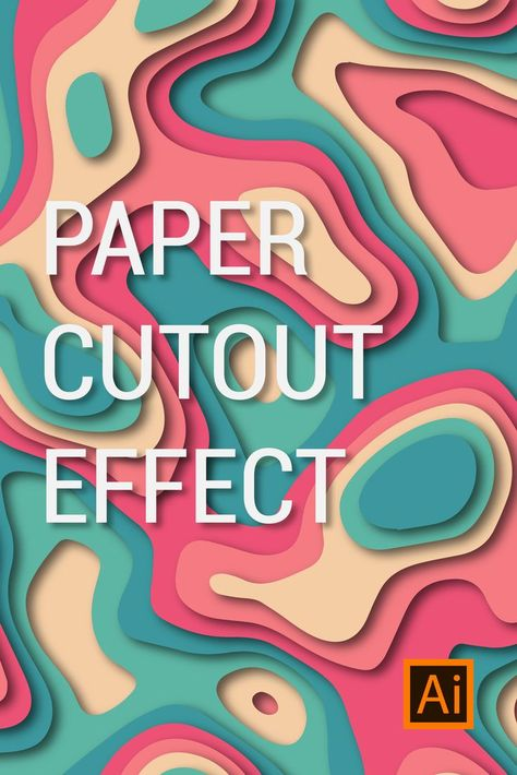 This Pin show you How to Create Paper Cut Out Effect in Adobe Illustrator. ☘… - Paper Diy