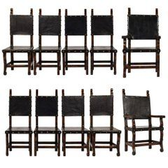 Set Of Ten Spanish Colonial Style Dining Chairs Dining Room Chairs Antique Dining Room Chairs Dining Chairs For Sale