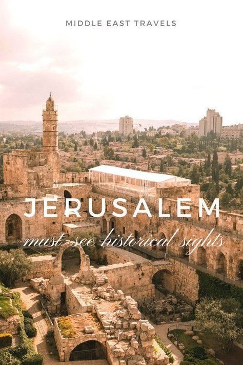 Historic sites in Jerusalem: 5 places every traveler should visit Jerusalem must see historical sites. Immerse yourself in the rich culture and history of with my guide on the top sites to visit. Cool Places To Visit, Places To Travel, Travel Destinations, Israel Tierra Santa, Jerusalem Travel, Visit Israel, Eilat, Israel Travel, Israel Trip