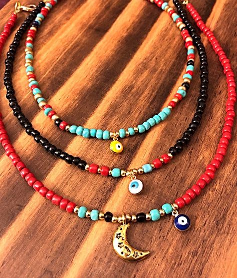 Gypsy choker with evil eye. bohemian jewelry hippie accessories tribal style tibet jewelry - Gypsy choker with evil eye. Bohemian Bracelets, Cute Jewelry, Bohemian Jewelry, Diy Jewelry, Jewelery, Jewelry Accessories, Jewelry Making, Beaded Bracelets, Bohemian Accessories