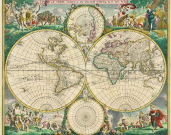 Map world map antique world map world map poster by mapsandposters map world map antique world map world map poster by mapsandposters maps pinterest etsy sciox Choice Image