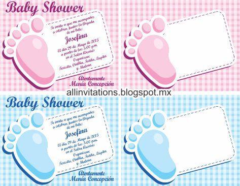 Invitaciones De Baby Shower Para Editar E Imprimir Gratis Plantillas