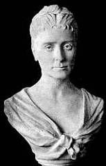 Bust of Princess Oblensky --exhibited in the Women's Building, 1893 Exposition. By artist Princess Mary Schahovskoy-Strechneff .  A maid of honor to the Empress of Russia, Schahovskoy was part of the Congress of Representative Women and a Judge of Awards in the Fine Arts Division at the 1893 Exposition.