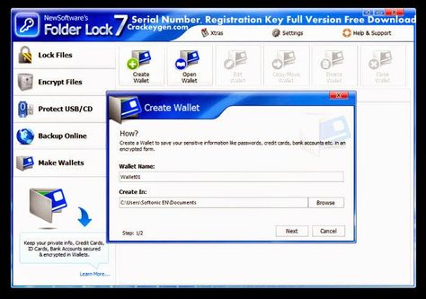 folder lock software free download full version with serial key