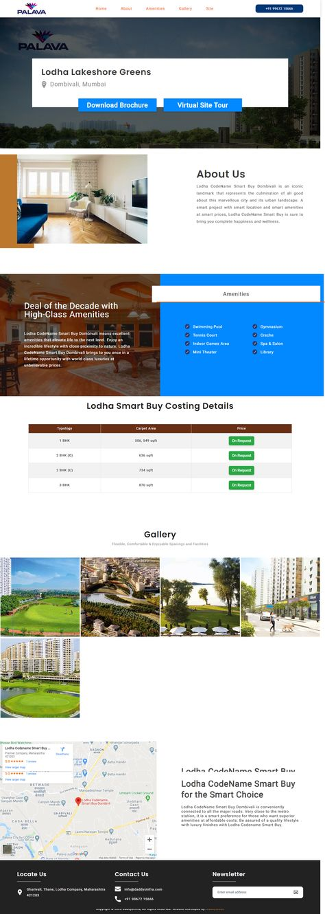 The Intent Of Any Real Estate Based Website Is To Get A Good Response From Customers Daddys Code Designed The Daddys Infra Lodha Palava Lakes In 2020 Luxury Real Estate