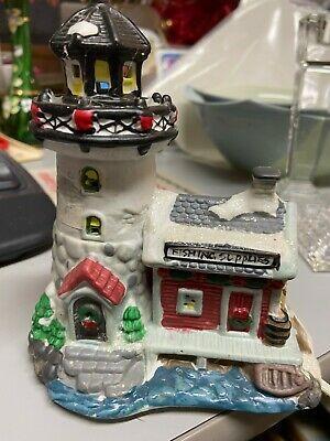 Cobblestone Corners Christmas Village 2020 Details about VTG Cobblestone Corners Lighthouse Fishing Supplies