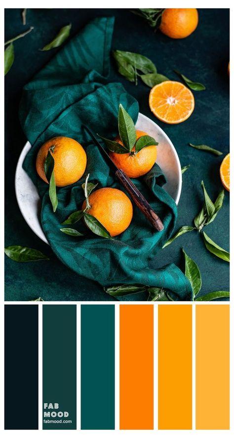 Orange Color Palettes, Color Schemes Colour Palettes, Colour Pallette, Color Combos, Orange Palette, Rust Color Schemes, Autumn Color Palette, Colour Combinations Interior, Coastal Color Palettes