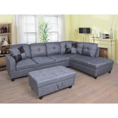 Mendoza 103 5 Right Hand Facing Sectional With Ottoman Sectional Sofa Furniture Sectional