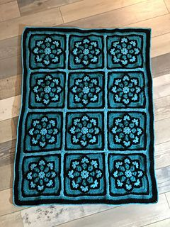 Julieanny S Stained Glass Afghan Square Pattern By Julie Yeager