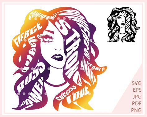 SVG File for Cricut Positive SVG Motivational SVG Girl boss svg