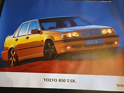 Ebay Advertisement Wonderful Original Pr Poster Volvo 850 T 5r Saloon 1994 Yellow 100x70 Cm ในป 2020