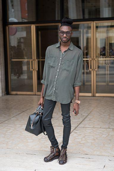 Dorian, NY - Top Bun & Lace Up Shoes
