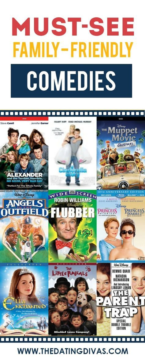 101 Family Friendly Movies From The Dating Divas Good Comedy Movies Family Fun Night Comedy Movies List
