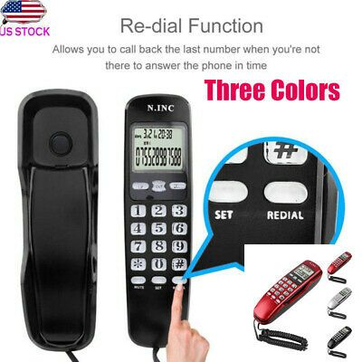 Ad Ebay Link Corded Phone Desk Wall Mounted Telephone Home Landline Caller Black White Us In 2020 Phone Items Caller Id Telephone