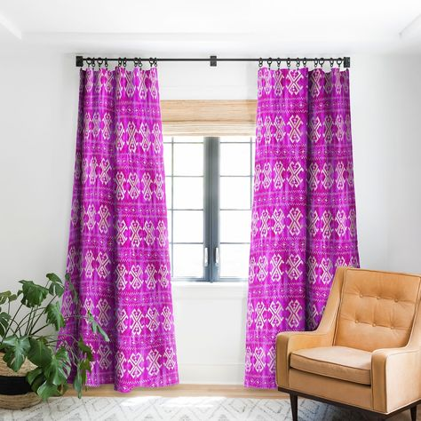 Hot Pink Blackout Curtain Panel