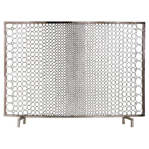 Interlude Sabrina Modern Classic Polished Nickel Ring Fire Place