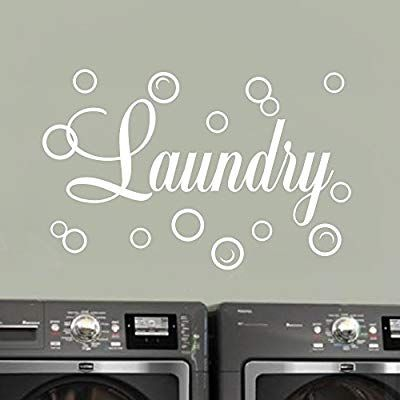 Moharwall Laundry Room Decal Quote Bubble Stciker Laundry Signs Wall Lettering Vinyl Art Stick Laundry Room Decals Laundry Room Decor Signs Wall Decals Laundry