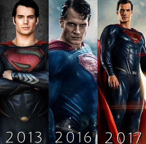 Superman 2013,2016 and 2017