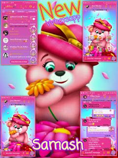 Newhatsapp V6 36 Bear Pink Edition Latest Version Download Now Auto Reply Message Distinguish Between Indian Language