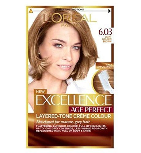 L Oreal Paris Excellence Age Perfect 6 03 Light Golden Brown Pack Of 2 Http Best Anti Aging Products Co Uk Product Lo Loreal Hair Color Hair Color Loreal