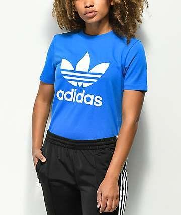 adidas Trefoil Royal Blue T-Shirt   Zumiez   Royal blue t shirt ...