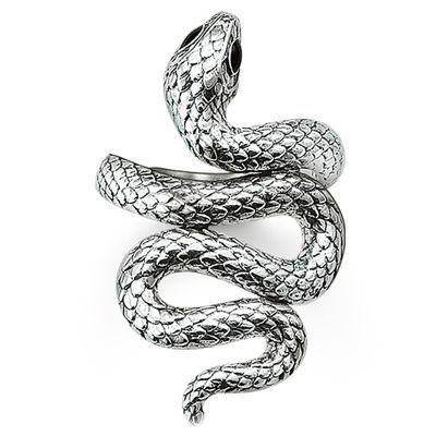 36873a399ad The high-fashion snake trend has been interpreted in silver - as a snake  winding around the finger. Fabulous!
