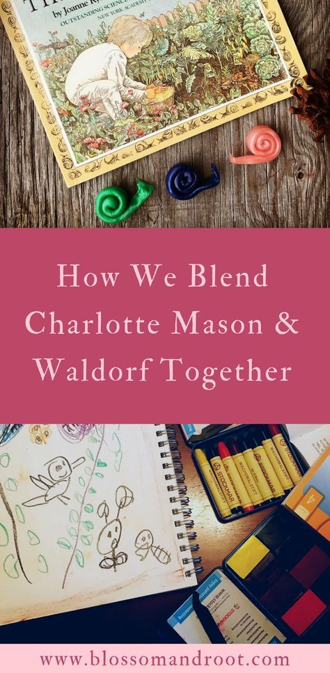 How we combine elements of Waldorf and Charlotte mason in our eclectic, nature-based homeschool via and Root Waldorf Preschool, Waldorf Kindergarten, Homeschool Kindergarten, Nature Based Preschool, Homeschool Apps, Homeschooling, Educational Activities For Preschoolers, Middle School Literacy, Waldorf Education
