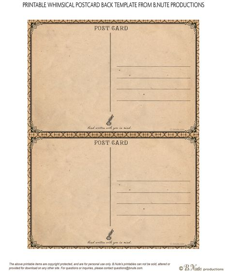 Vintage Postcard Template Download LeTtErS fRoM hOmE – Printable Postcard Template Free