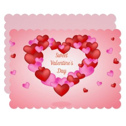 Sweet Pink and Purple Heart Valentine´s day Card - Saint ...