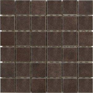 Concrete 2x2 Small Square Mosaic Brown Interceramic Usa Glazed Porcelain Natural Stone Tile Concrete Mosaic