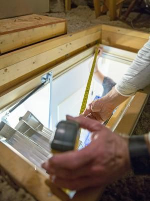 How To Install A Folding Attic Ladder Attic Ladder Attic Attic Stairs