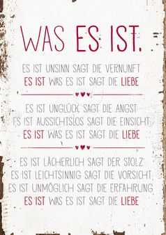 Art.Nr. 9381: Postkarte   Was Es Ist | Gute Sprüche | Pinterest |  Hochzeitszeitung, Bielefeld Und Werkstatt
