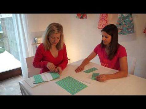 Hefthülle, Mutterpasshülle nähen - für Nähanfänger - Schnitt Zierstoff