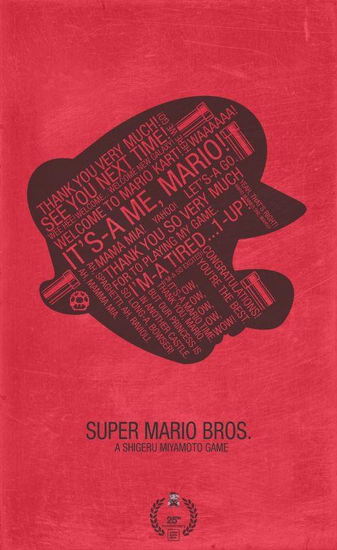 Poster Mario Bros Poster Super Mario Bros Con Todas Sus