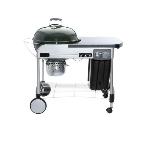 Performer Deluxe 22 Inch Charcoal Bbq In Green With Steel Cart Charcoal Grill Best Charcoal Grill Digital Timer