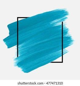 Vektor Stok Logo Brush Painted Watercolor Background Art (Tanpa Royalti) 477471310