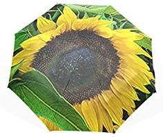 4873234270e8 EnnE Compact Umbrella Sunflowers Travel Umbrella Rain Windproof UV ...